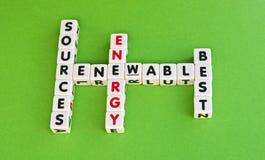 Fonti di energia rinnovabili la cosa migliore Fotografia Stock