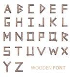 Fonti di legno di alfabeto Fotografia Stock Libera da Diritti
