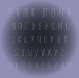 Fonti originali e numeri dalle stelle Immagini Stock