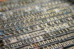 Fonti tipografiche Immagini Stock