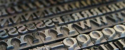 Fonti tipografiche Fotografia Stock Libera da Diritti