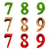 Fonti tipografiche di alta risoluzione 3D isolate Fotografie Stock