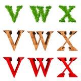 Fonti tipografiche di alta risoluzione 3D isolate Immagine Stock Libera da Diritti