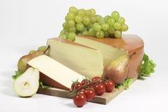 Fontina seasoned cheese Stock Photography
