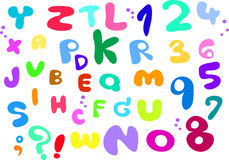 Fontping alphabet Handwriting Stock Photography