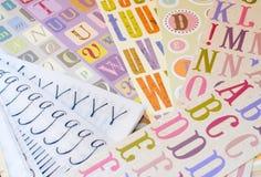Fonts Royalty Free Stock Photo