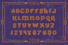 Fonts in attractive design. Font english alphabet designer idea Stock Photo