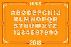 Fonts in attractive design. Font english alphabet designer idea Royalty Free Stock Photos