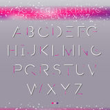 Fonts1. Elegant  cosmic Font. Vector thin font, typography, typewriter Stock Photo