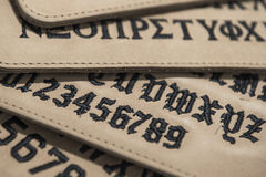 Fonts leather Stock Photo