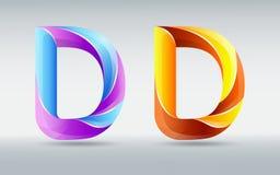 fonts Lettera torta creativa D Fonte astratta 3D Caramello e colori ultravioletti Un concetto tipografico elegante royalty illustrazione gratis