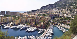 Fontveille Kanal, Monte Carlo, Monaco Stockfotos