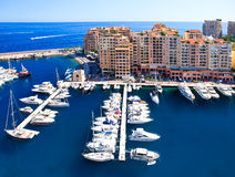 Fontvieille, district of Monaco. view of marina Stock Photo