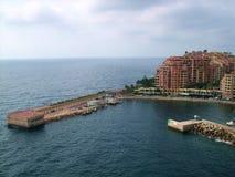 Fontvieille hamn nära monte Carlo Monaco Arkivbild