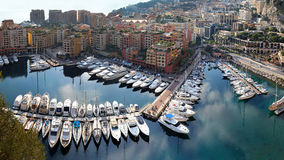 Fontvieille harbour Monaco Royalty Free Stock Image