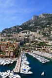Fontvieille, Monaco. Port of Fontvieille viewed from Palace walls, Monte Carlo, Monaco Stock Photo