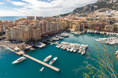 Fontvieille Monaco Harbor Royalty Free Stock Photos