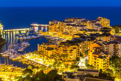 Fontvieille Monaco Harbor Stock Image