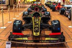 FONTVIEILLE MONACO, JUN, - 2017: czarny LOTUS E 21 RENAULT F1 2013 w Monaco wierzchołka samochodów kolekcji muzeum fotografia stock