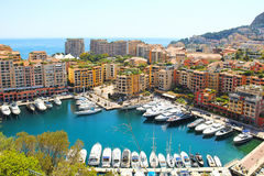Fontvieille port, Monaco Stock Photo