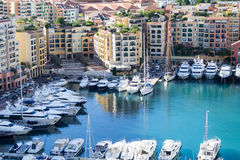 Fontvielle harbour, Monaco Stock Images
