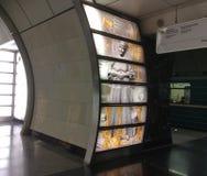 Fonvizinskaya-Metrostation, Moskau stockfotos