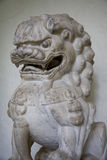 Foo Dog Temple Sculpture. Close-up of a foo dog temple sculpture guardian Stock Image