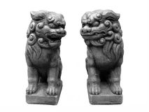 Foo dogs. Left and Right Chinese Foo Dogs royalty free stock photo