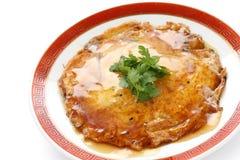Foo jonge, Chinese omelet van het ei met krabvlees Royalty-vrije Stock Foto's