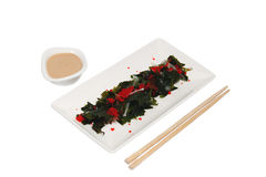 Food. Sushi on a plate and stick Royalty Free Stock Images