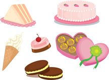 Food. Illustration of food items on a white background Royalty Free Stock Photography
