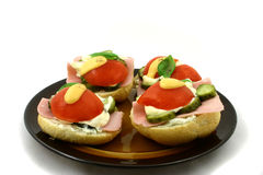 Food. Appetizingly sandwich on the plate Stock Photo