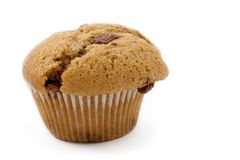 Food #16. A single Caramel Chip muffin on a white background - deformed Stock Photos