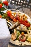 Food. Mediterranean fish grilled, Italy, Liguria Stock Photo