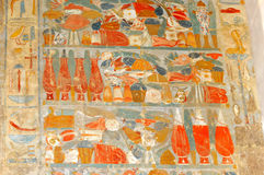Food. Ancient Egyptian painting of large quantities of food Stock Image