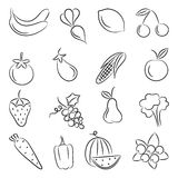 Food. A set of sketches of food Stock Image