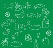 Food. Hand drawn food background, vector illustration file Vector Illustration