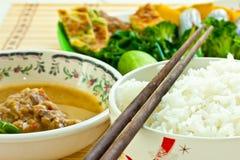 Food. Vegetables mix with jasmine rice Stock Photo