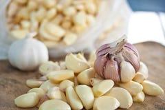 Food. Garlic is ingredient of food Stock Photos