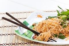 Food. Stir-fried noodles  fast food Stock Photography