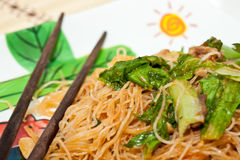 Food. Stir-fried noodles made from rice Royalty Free Stock Photography