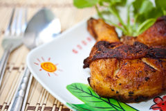 Food. Fried chicken in meal time Royalty Free Stock Photography