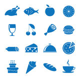 Food. Vector illustration icons on food Royalty Free Stock Photo