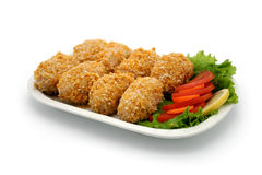 Food. A plate with meatless balls Royalty Free Stock Image