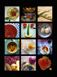 Food. Some food arranged for a kitchen poster Royalty Free Stock Photos