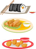 Food. An illustration of assorted food Royalty Free Stock Images