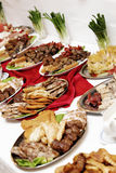 Food. A lot of food at the restaurant Stock Image