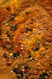 Food Abstract of Mixed Spices Royalty Free Stock Photo