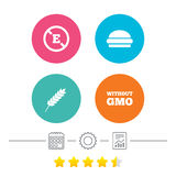Food additive icon. Hamburger fast food sign. Royalty Free Stock Images