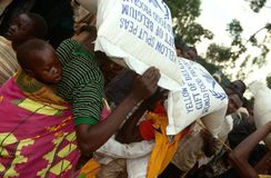 Food aid in Burundi. Royalty Free Stock Image